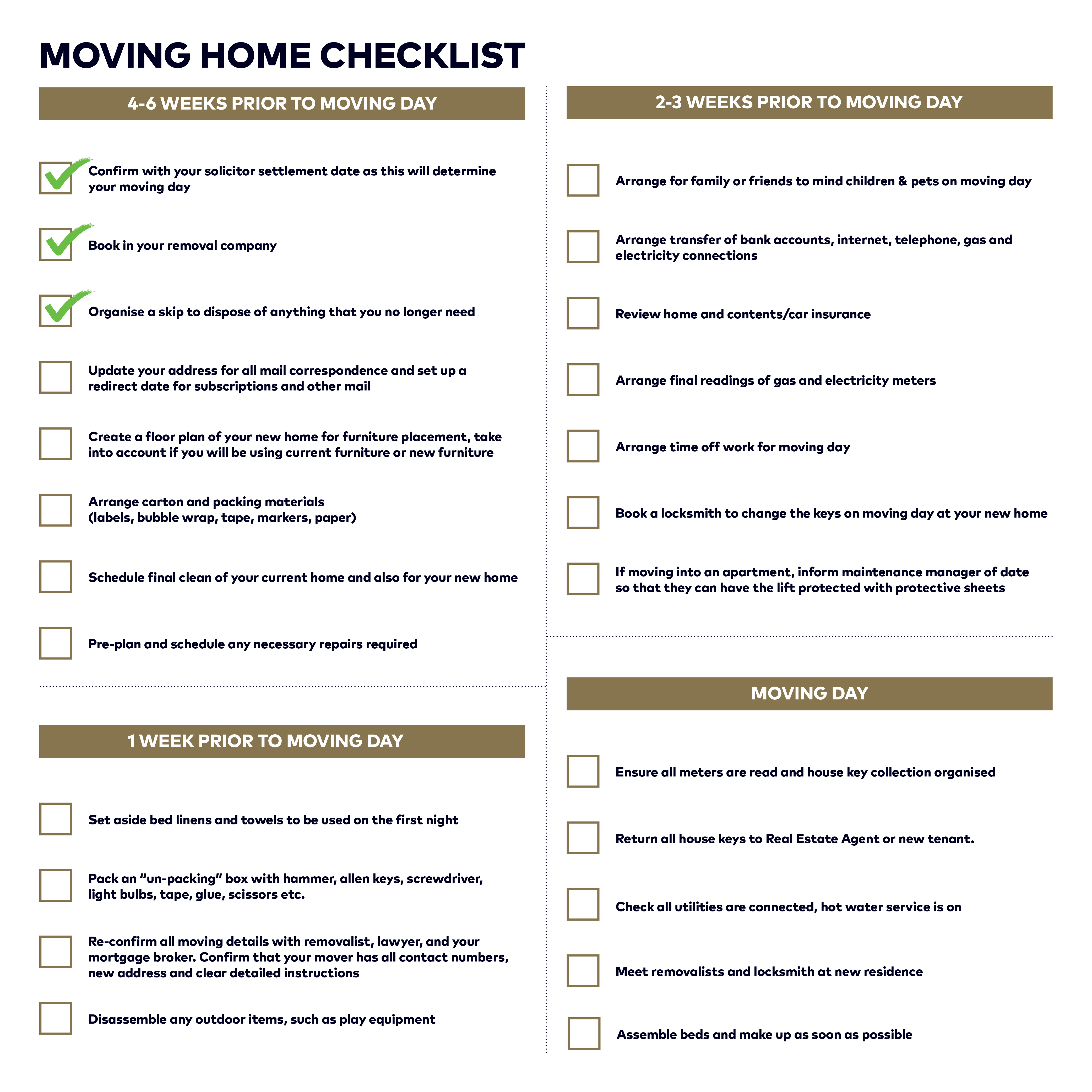 10 things to do before moving into your new home tiffen co - Things to do before moving into new house ...